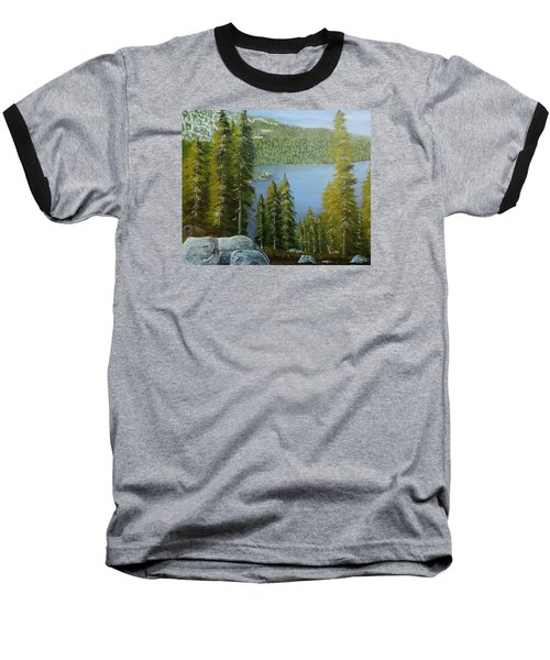 Emerald Bay - Lake Tahoe Baseball T-Shirt