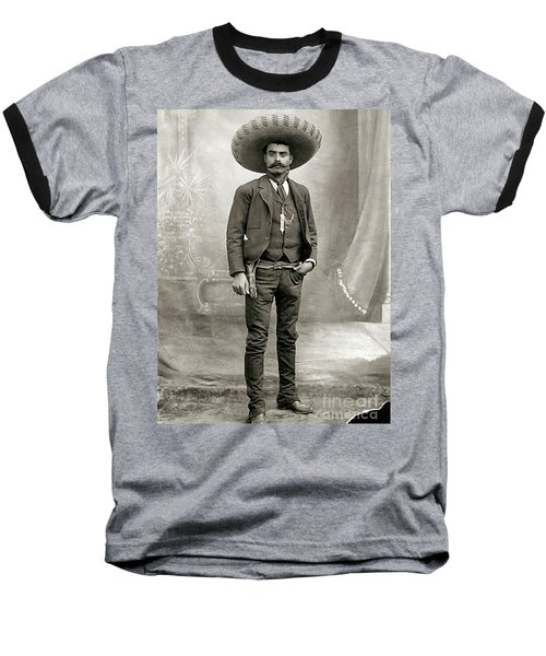 Baseball T-Shirt featuring the photograph Emiliano Zapata by Pg Reproductions