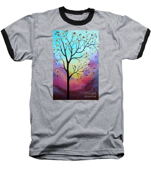 Baseball T-Shirt featuring the painting Enchanted Aura by Stacey Zimmerman