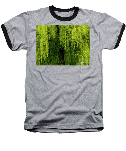 Enchanting Weeping Willow Tree  Baseball T-Shirt