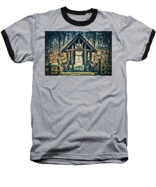 Baseball T-Shirt featuring the photograph Entrance To Seven Bridges - Grant Park - South Milwaukee #3 by Jennifer Rondinelli Reilly - Fine Art Photography