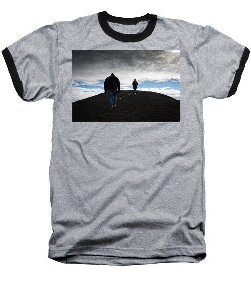 Baseball T-Shirt featuring the photograph Etna, Red Mount Crater by Bruno Spagnolo