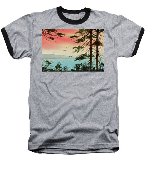 Baseball T-Shirt featuring the painting Evening Light by James Williamson