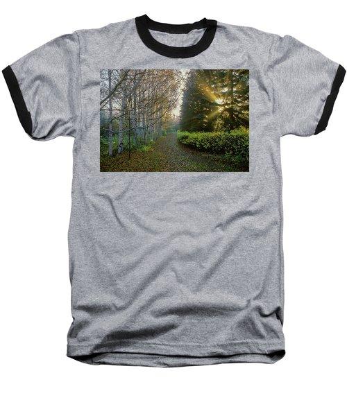 Evening Light Baseball T-Shirt by Vladimir Kholostykh