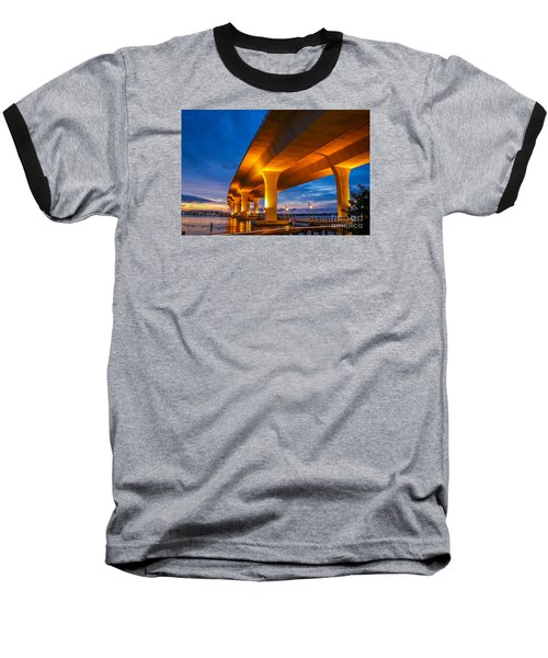 Evening On The Boardwalk Baseball T-Shirt by Tom Claud