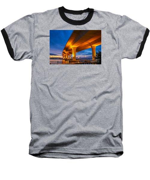 Evening On The Boardwalk Baseball T-Shirt