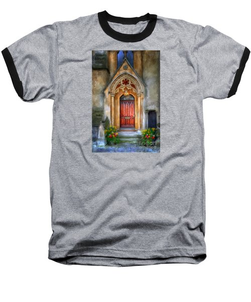 Evensong Baseball T-Shirt by Lois Bryan
