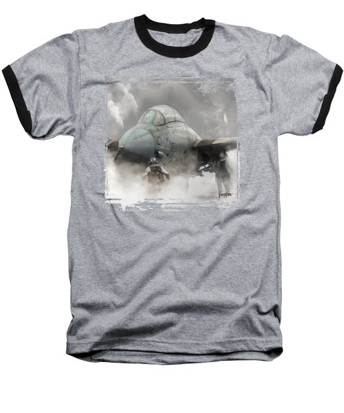 F-14 Smokin' Hot Baseball T-Shirt