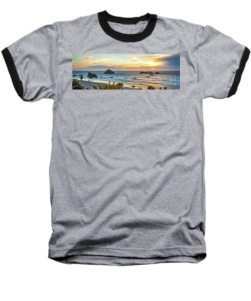 Face Rock At Sunset Baseball T-Shirt