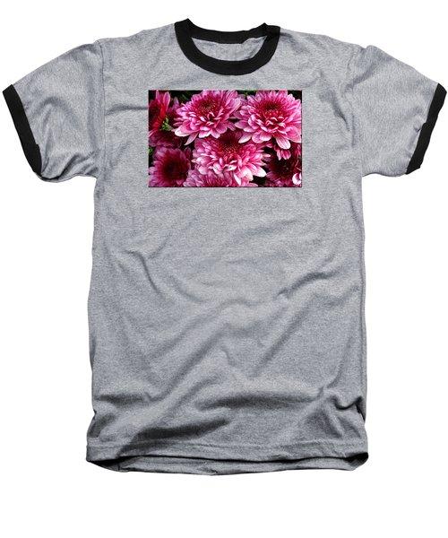 Fall Flowers Baseball T-Shirt by Mikki Cucuzzo