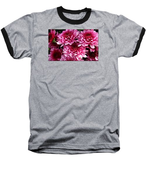 Fall Flowers Baseball T-Shirt