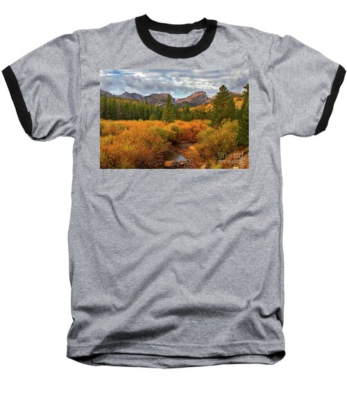 Fall In Rocky Mountain National Park Baseball T-Shirt by Ronda Kimbrow
