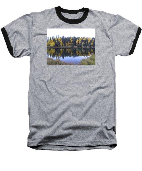 Potty Pond Reflection - Fall Colors Divide Co Baseball T-Shirt
