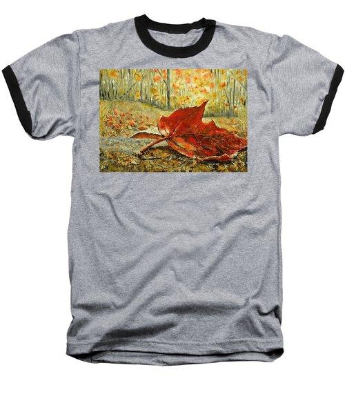 Fallen Leaf  Baseball T-Shirt