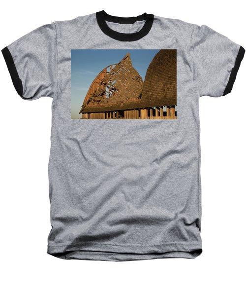 Baseball T-Shirt featuring the photograph Falling Apart by Elvira Butler