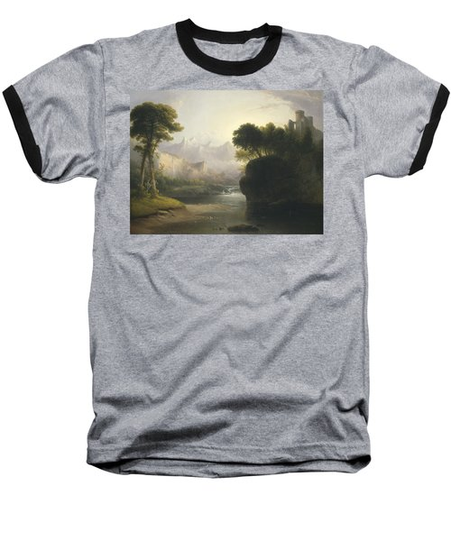 Fanciful Landscape Baseball T-Shirt