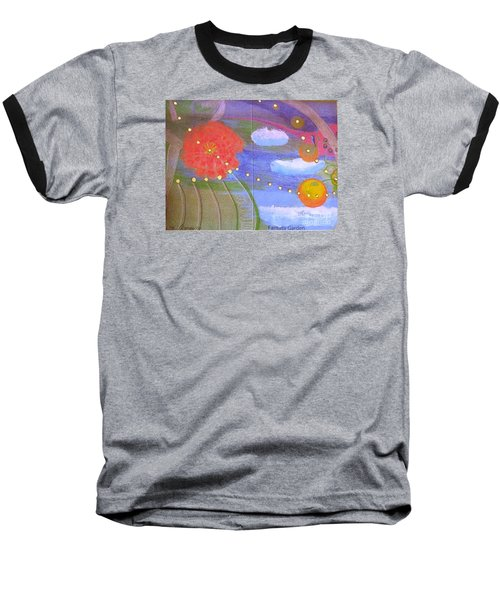 Fantasy Garden Baseball T-Shirt by Rod Ismay