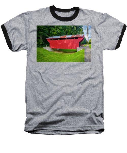 Feedwire Covered Bridge - Carillon Park Dayton Ohio Baseball T-Shirt