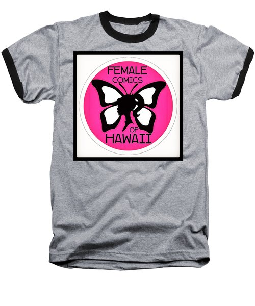 Baseball T-Shirt featuring the digital art Female Comics Of Hawaii by Erika Swartzkopf