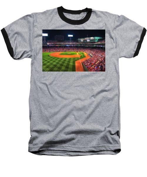 Fenway Park At Night - Boston Baseball T-Shirt by Joann Vitali