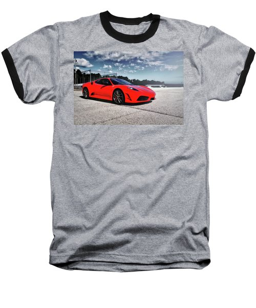 Baseball T-Shirt featuring the photograph Ferrari F430 by Joel Witmeyer
