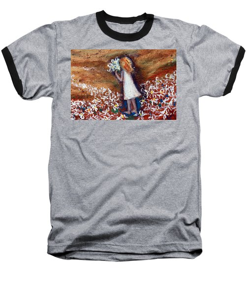 Field Of Flowers Baseball T-Shirt by Winsome Gunning