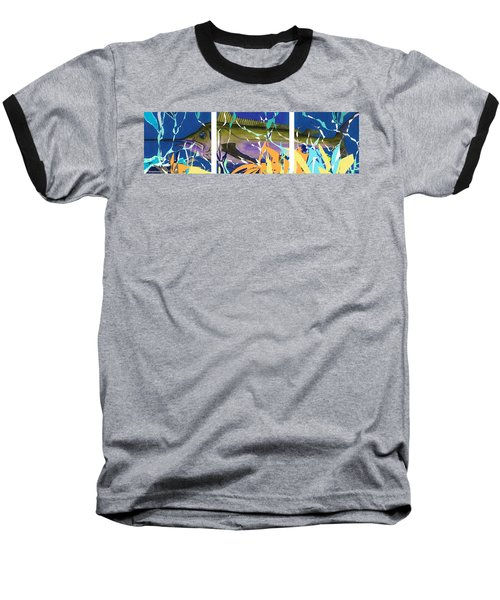 Baseball T-Shirt featuring the mixed media Fiesta by Andrew Drozdowicz