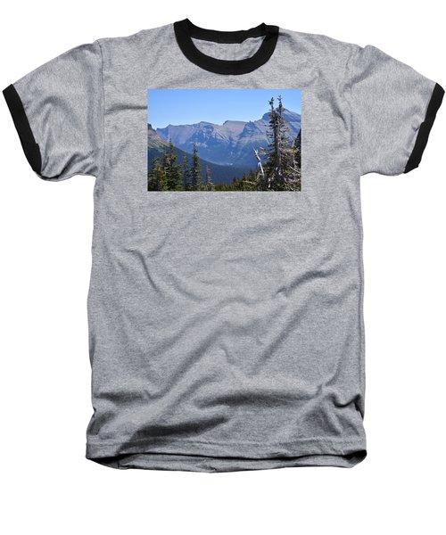 Fire Within Glacier National Park Baseball T-Shirt by Dacia Doroff