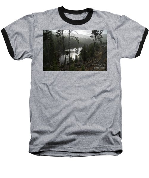 Firehole River In Yellowstone Baseball T-Shirt by Cindy Murphy - NightVisions