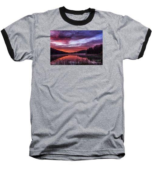 First Light On The Lake Baseball T-Shirt by Thomas R Fletcher