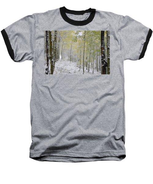 First Snow Fall Baseball T-Shirt