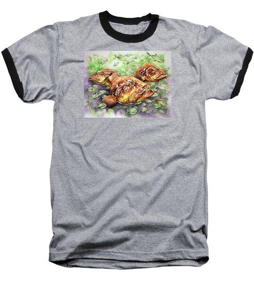Fish Bowl Baseball T-Shirt by William Love