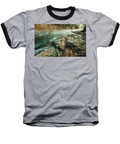 Baseball T-Shirt featuring the photograph Fishing Day by Iris Greenwell