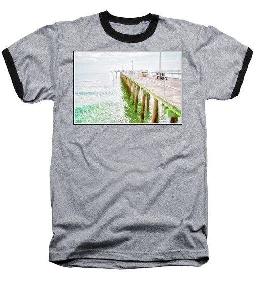 Fishing Pier, Margate, New Jersey Baseball T-Shirt