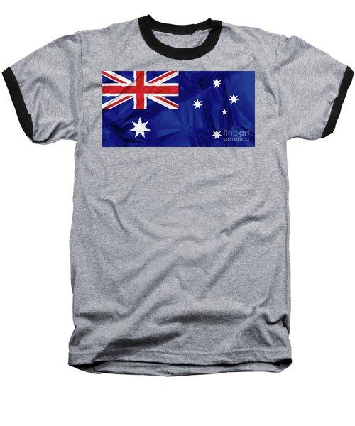 Flag Of Australia Baseball T-Shirt