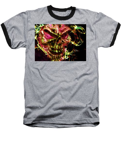 Flaming Skull Baseball T-Shirt