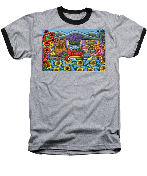 Flavours Of Provence Baseball T-Shirt