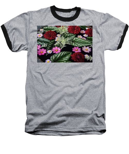 Baseball T-Shirt featuring the photograph Floating Flower Bouquet by Byron Varvarigos