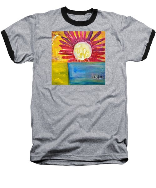 Baseball T-Shirt featuring the painting Floral by Evelina Popilian