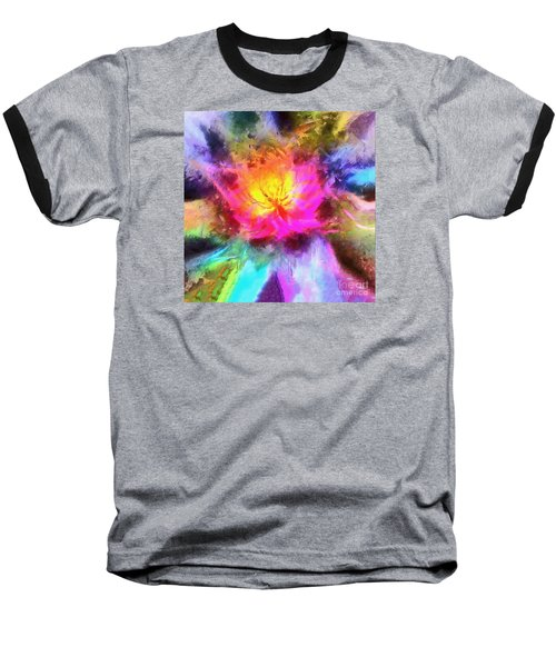 Baseball T-Shirt featuring the photograph Floral Mandala 01 by Jack Torcello