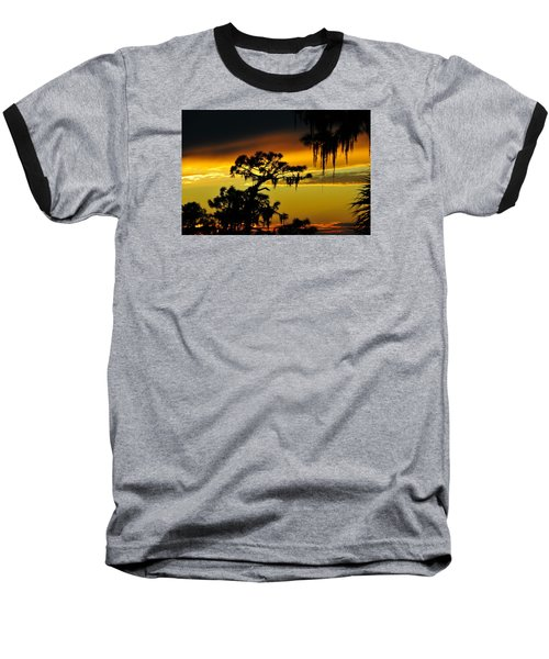 Baseball T-Shirt featuring the photograph Central Florida Sunset by David Lee Thompson