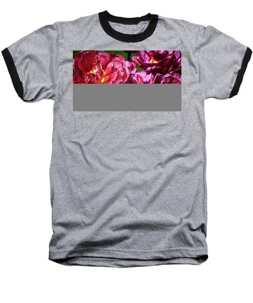 Flowers And Fractals Baseball T-Shirt