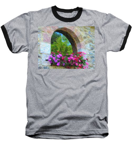 Flowers Baseball T-Shirt