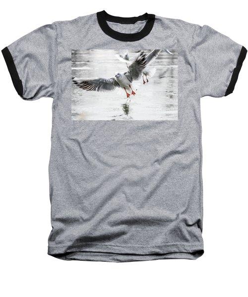 Flying Seagulls Baseball T-Shirt
