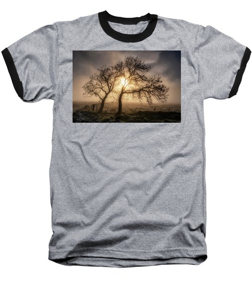 Baseball T-Shirt featuring the photograph Foggy Morning by Jeremy Lavender Photography