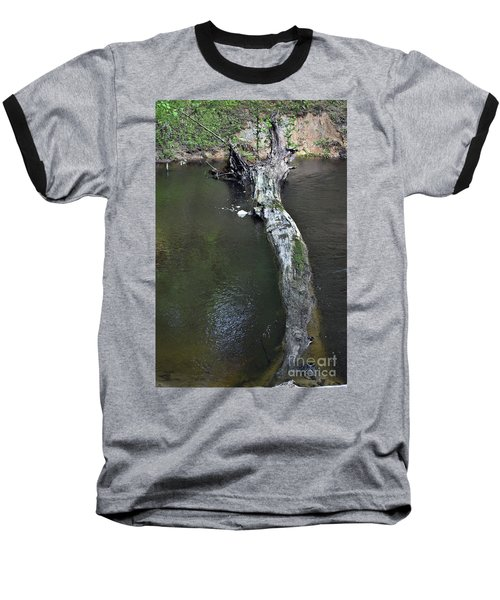 Baseball T-Shirt featuring the photograph Footbridge by Skip Willits