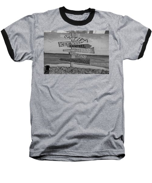 Fort Myers Beach Mural Baseball T-Shirt