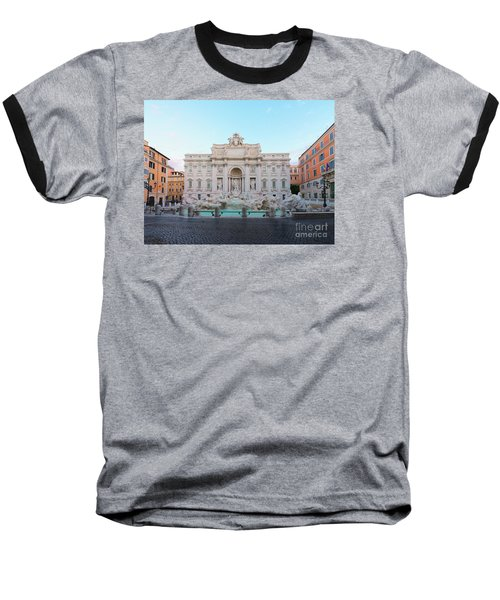Fountain Di Trevi And Sunrise, Rome Baseball T-Shirt by Anastasy Yarmolovich