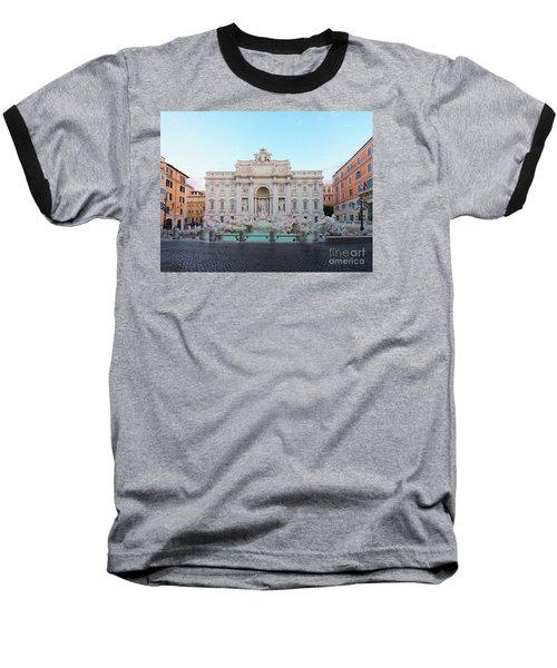 Fountain Di Trevi And Sunrise, Rome Baseball T-Shirt