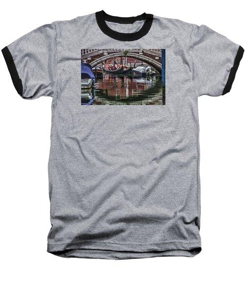 Baseball T-Shirt featuring the photograph Framed Gondolas by Shirley Mangini